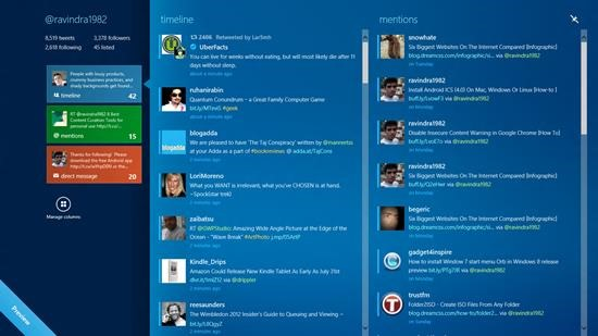 MetroTwit twitter client for windows 8