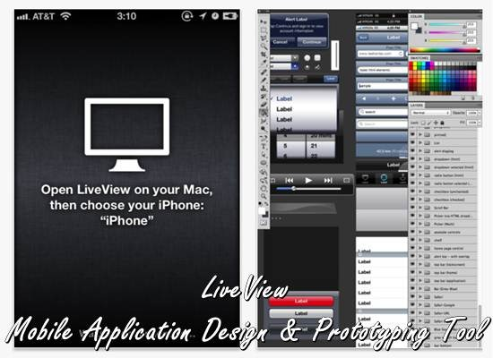 Mobile Application Design & Prototyping Tool - LiveView