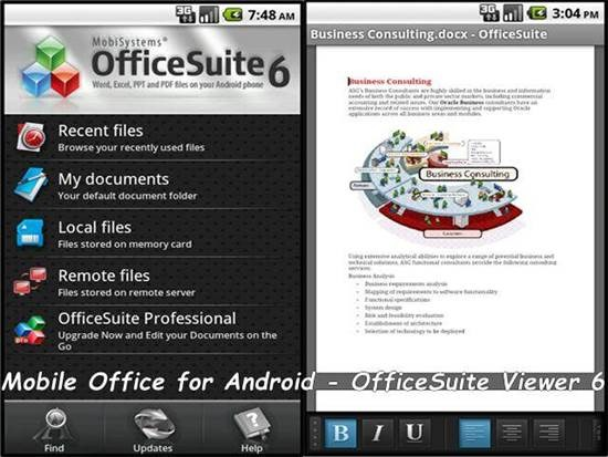 Mobile Office for Android - OfficeSuite Viewer 6