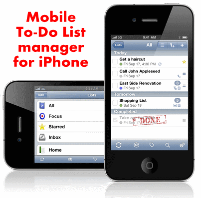 mobile to-do list : 20 most useful Mobile To-Do List manager for iPhone