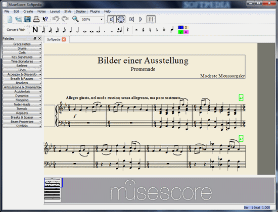 MuseScore – A WYSIWYG musical notation and composition