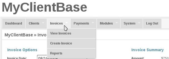 MyClientBase – Free web based invoice management system