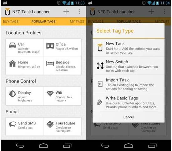NFC Task Launcher 7 Best Android NFC Apps