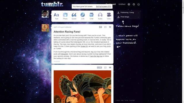 Nebula exarock 49 Useful Tumblr dashboard theme for Tumblr User