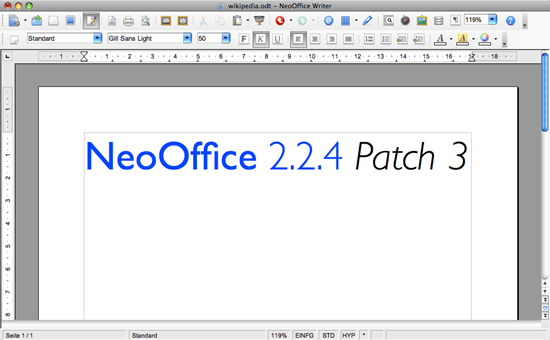 NeoOffice 8 free Microsoft excel alternative software