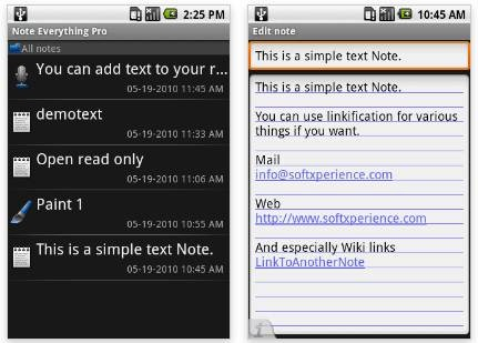 Note Everything 21 useful Android Productivity Apps