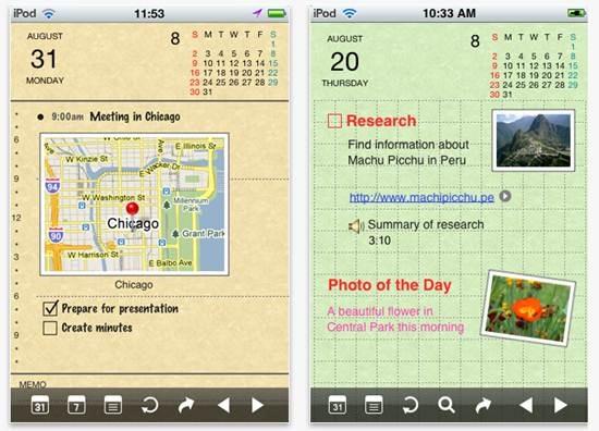 Organizer lite iphone app