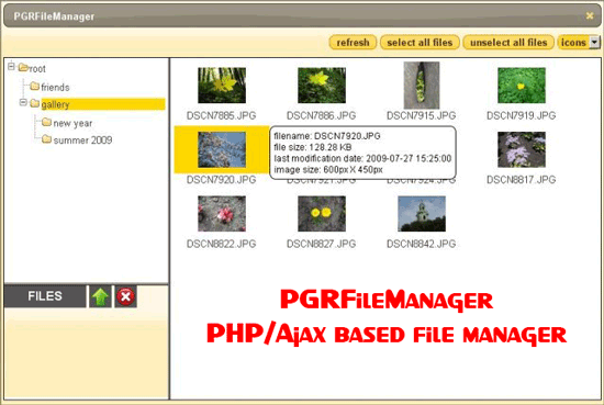 PGRFileManager – PHP/Ajax based file manager – Gadget Explorer