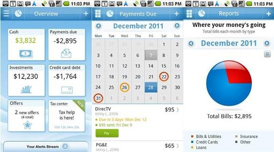 Pageonce 12 useful Personal Finance manager for Android