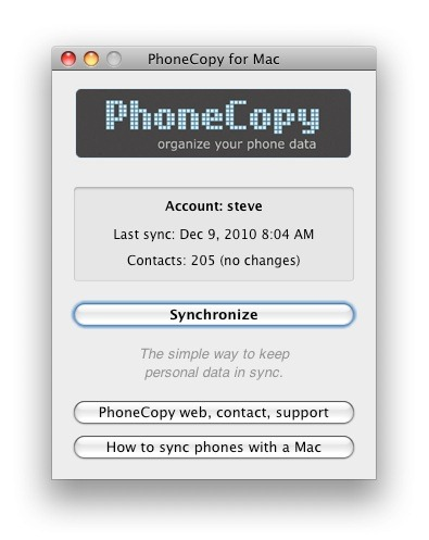 Phone copy for Mac