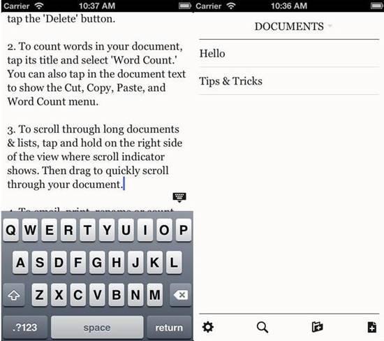 PlainText - Dropbox text editing