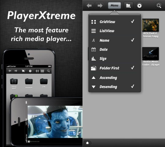 PlayerXtreme HD - Best Mobile video players for iPhone