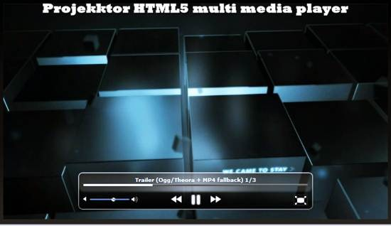 projekktor - html5 video player