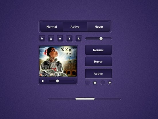 Purple UI Elements by Gil Huybrecht