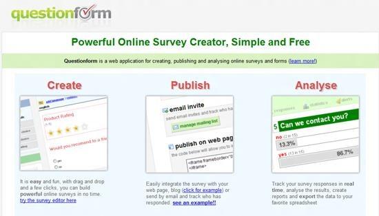 Questionform Survey software : Top 15 online survey software and questionnaire
