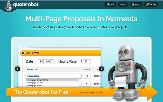 Quoterobot Proposal Template