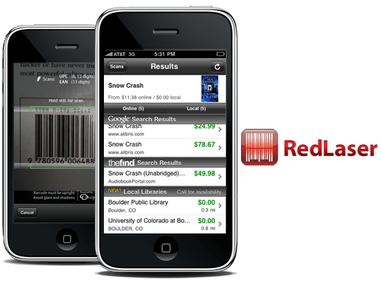 RedLaser 18 free Mobile Shopping Apps for smartphone
