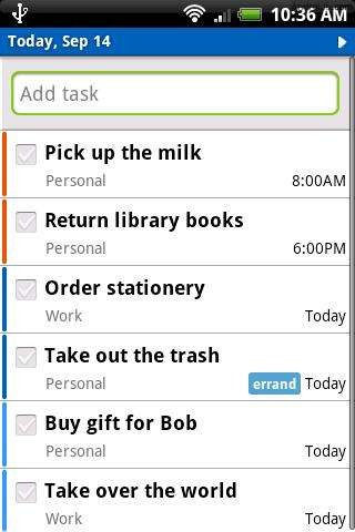 Remember The Milk 21 useful Android Productivity Apps