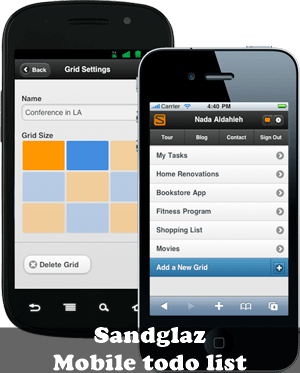 Sandglaz mobile to-do list : 20 most useful Mobile To-Do List manager for iPhone
