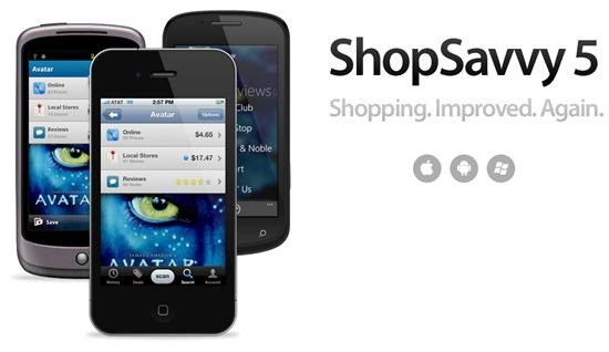 ShopSavvy 18 free Mobile Shopping Apps for smartphone