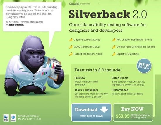 Silverback 2.0 Usability Testing : 13 most useful and simple Usability Testing software