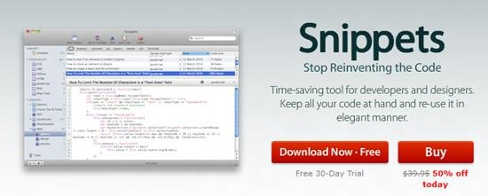 Snippets Top 10 Code Snippets manager for Mac
