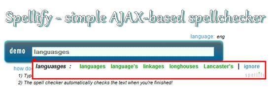 Spellify - simple AJAX-based spellchecker