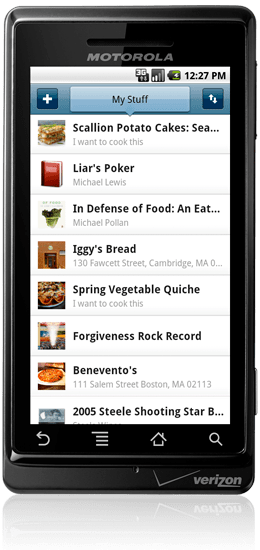 Springpad 21 useful Android Productivity Apps
