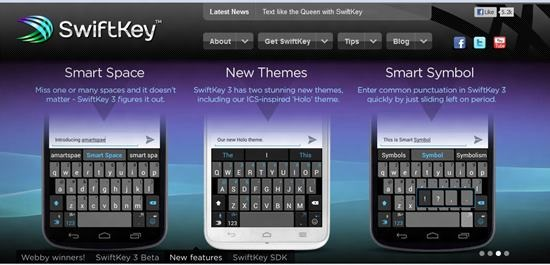 SwiftKey X Keyboard apps for android