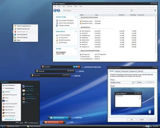 Tener_VS_by_MohsinNaqi 55 most Beautiful free Window XP Themes and Visual Styles