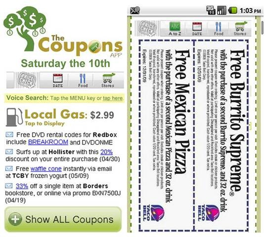 The Coupons App 18 free Mobile Shopping Apps for smartphone