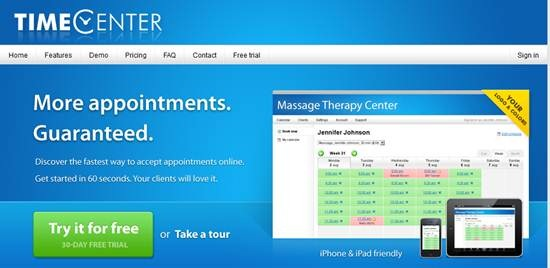 TimeCenter online appointment scheduler