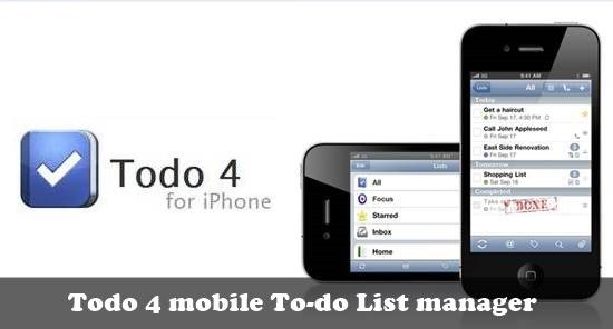 Todo 4 mobile to-do list : 20 most useful Mobile To-Do List manager for iPhone