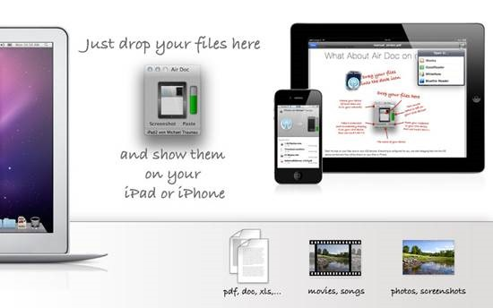 Transfer files from mac to iPhone with Air Doc