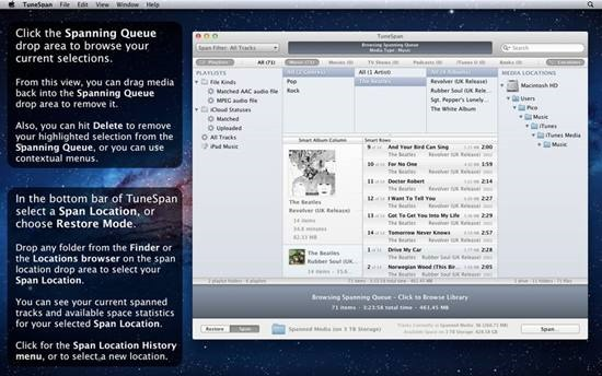 TuneSpan - Manage iTunes media Library on multiple drives (5)