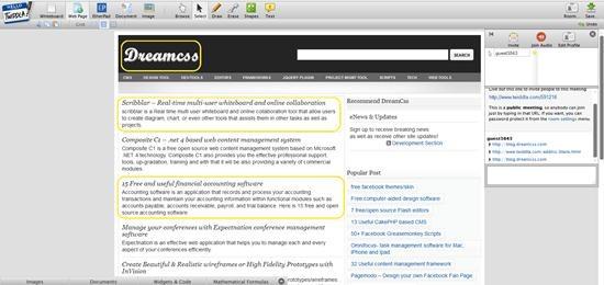 Twiddla - online collaborative whiteboard