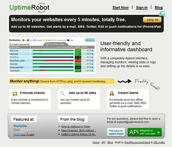 Uptime Robot - Top 5 Website Monitoring Apps