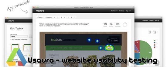Usaura - website usability testing