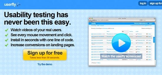 Userfly Usability Testing : 13 most useful and simple Usability Testing software