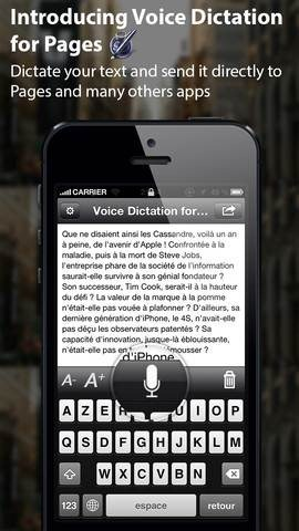 Voice Dictation for Pages - dictation apps for iphone