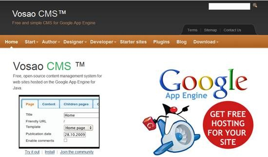Vosao Java CMS for Google App Engine