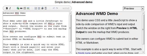 WMD - Wysiwym HTML editor
