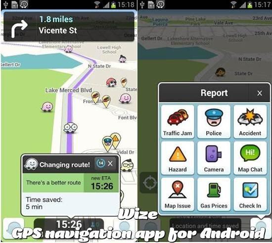 Waze GPS navigation App