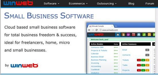 Winweb Cloud based small business software