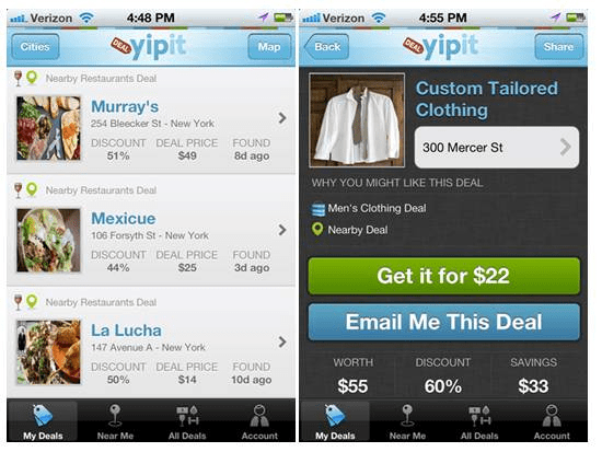Yipit 18 free Mobile Shopping Apps for smartphone