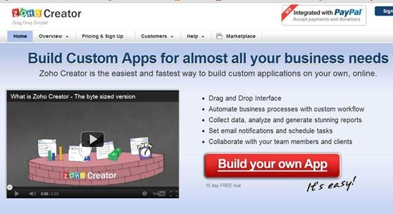 Zoho Creator 8 Online Database builder/creators