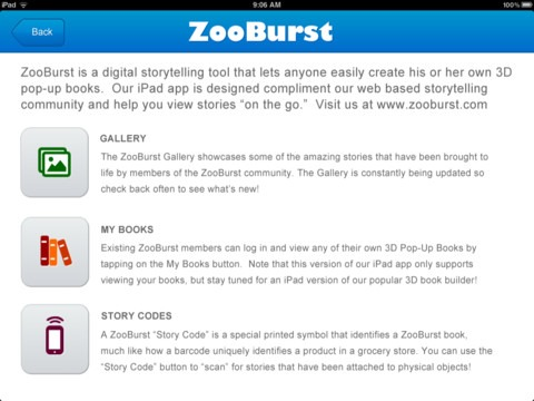 Zoo Burst - Augmented Reality iPhone Apps for Education