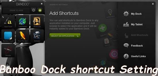 banboo dock Shortcut setting Bamboo Dock - Application Dock for Windows