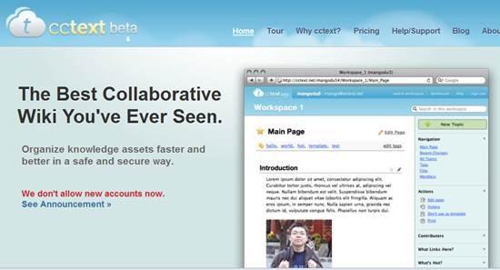 cctext - Collaborative Wiki