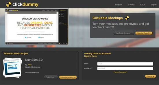 ClickDummy - Create Clickable Mockups Online
